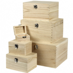 Wood Boxes With Lids